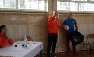 2016.11.15 Lekcja wf-u z futsalową drużyną Piasta Gliwice